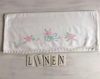 Vintage White Embroidered Pillowcases