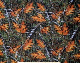 FLEECE Maple Leaves & Branches Fabric From David Textiles