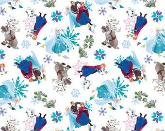 Disney Fabric Frozen Fabric Friends Toss From Springs Creative 100% Cotton