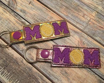 Tennis Mom - Key Fob In The Hoop - DIGITAL Embroidery DESIGN