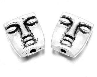 X 2 face metal 15mm beads