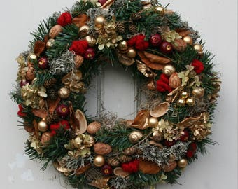 Artificial Advent Wreath Christmas wreath XL 45 cm