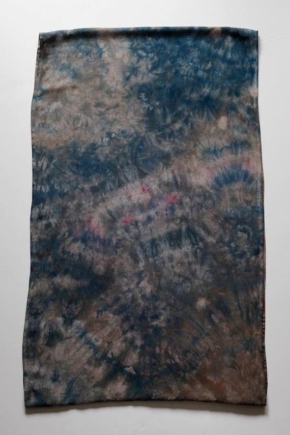 Stone Dyed Blue Grey Infinity Scarf