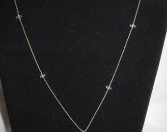 """vintage silver tone necklace 17"""""""