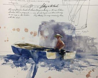 "1115 original watercolor 8x10"""