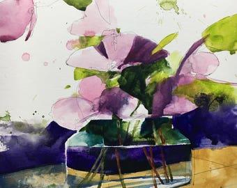 "1126 original watercolor 8x10"""