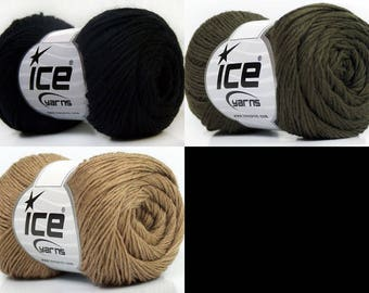 Pure Merino extrafine, Ice Yarn, Merino, superwash, 50 gr. = 200 m, knit, crochet, thin, soft, pure merino, wool, pure wool