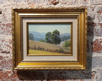 Paul Grimm -California Hilly Landscape - Beautiful Oil Painting