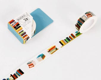 Washi Tape - book deco washi tape - masking tape, planner stickers, decorative stickers