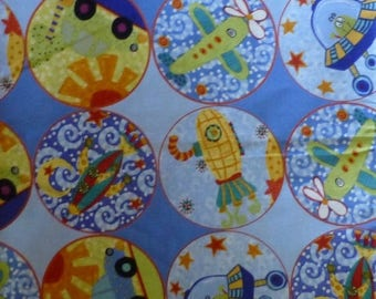 Clearance SALE Cotton Fabric,Quilt,Craft~Children's  Extra World Fabric~Fast Shipping CH