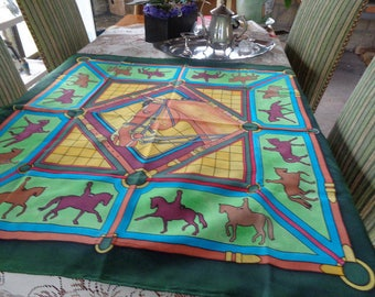 manually painted silk scarf 90 x 90