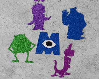 Monster Inc themed Birthday Party Cupcake Toppers