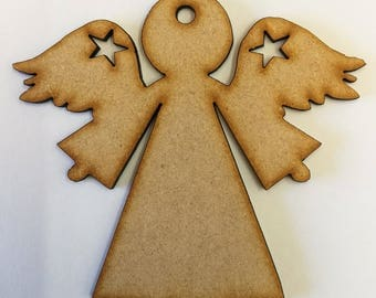 Standing Angel MDF Shapes - 3mm Lasercut - 4 Sizes Available