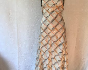 Reserved on LAYAWAY do NOT purchase 1930s deadsrock biascut silk dress XS