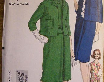 """51% OFF Mid Century Vintage Misses' One Piece Dress / Jacket Vogue Special Design Sewing Pattern 5616 Size 14 Bust 34"""""""