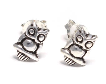 OWL Stud Earrings 925 sterling silver