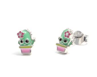 Cactus earrings 925 sterling silver