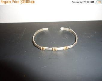 50% OFF Beautiful .925 Sterling Silver/14k Cuff Bracelet
