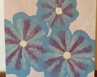 Original - Acrylic Painting - Blue Flower