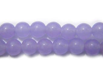 20 Lavender Jade 6mm Beads