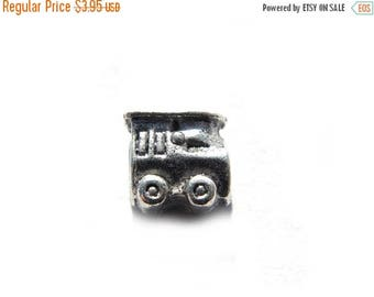 HALF PRICE 6 Silver Steam Engine Train Beads For European Charm Bracelets Etc