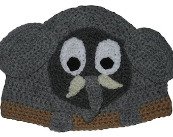 Hand Crocheted Elephant Hat HH111