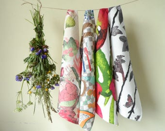 Linen Towels - Small Towels - Organic Towels - Kitchen Towels - Tea Towels