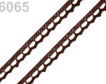 6065 - 9 mm Brown cotton lace