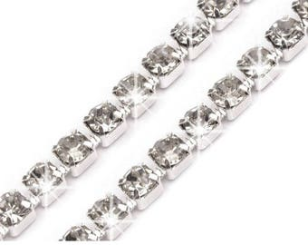 Crystal colors 3 mm chain
