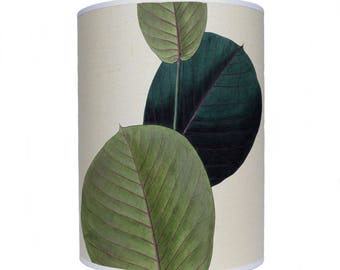 lamp shade/ ceiling light/ pendant light/ close up leaves shade/ drum lampshade/ lighting