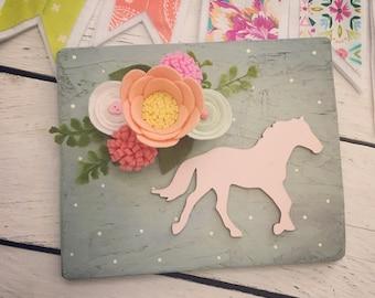 Blush hand painted chicken barn wood instagram photo clip board