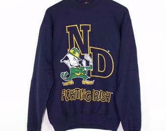 NOTRE DAME fighting irish sweatshirt - vintage 90s - college football  - small - medium