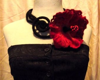 SALE Felt flower necklace/collar Felted flower necklace / collar Felt belt Felted belt Felt necklace / collar Felted necklace