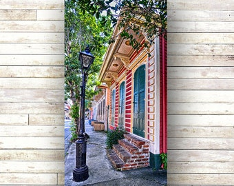 New Orleans Art - CROOKED LAMP -Doors - Architecture - Photography -Doors-Shutters- Historic Building- Birch Boxes- Wood