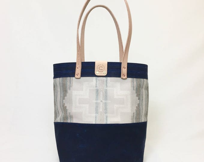 Astor - Waxed Canvas & Woll Tote - FREE SHIPPING