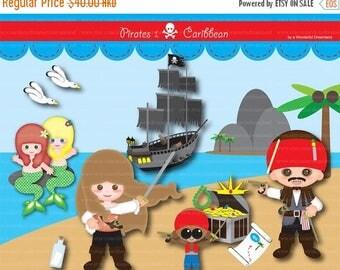 50% OFF Pirates I PDF Png - Instant Downloadd Printable clipart Clip Art Digital File