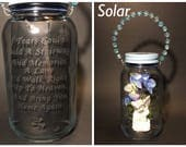 Angel Light For Cemetery - Etched Engraved Memorial Loss Grave Decoration - Burial Marker - Solar Lights - Mother Loss Memory Keepsakes