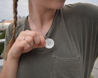 CUSTOMIZED aluminum necklace