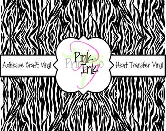 Beautiful Patterned Craft Vinyl and Heat Transfer Vinyl in Zebra Print
