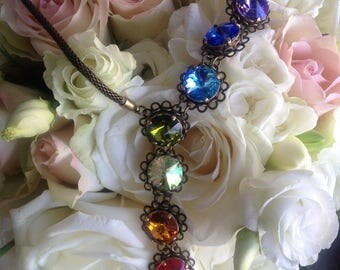 "Necklace ""chakras"" or ""Rainbow"" Swarovski Crystal"