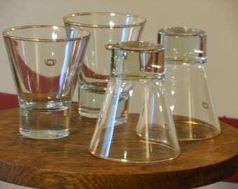Four Crown Royal Rocks Glasses