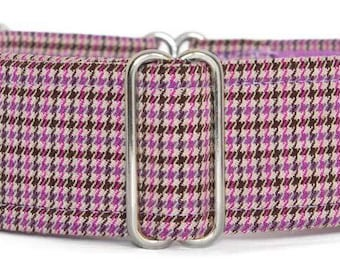 "Noddy & Sweets Adjustable Martingale Collar [1"", 1.5"", 2"" Tweed Heather]"