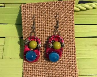 Pop top recycled earrings