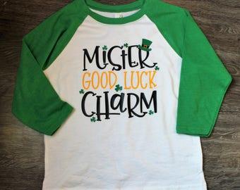 St. Patrick's Day Shirt, Mister Good Luck Charm Shirt, St. Paddy's Day Shirt