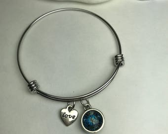 Fire fighter bangle bracelet