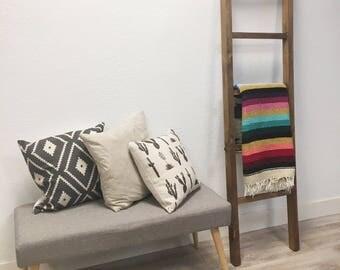 Ladder 6 ft SOLID wood | Blanket Ladder | Made in USA | Fixer Upper | Modern Farm House
