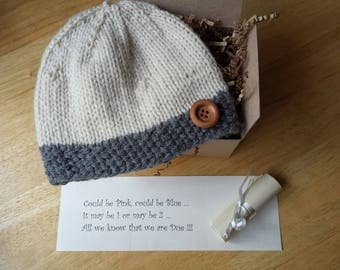Pregnancy reveal, Baby Hat, Pregnancy Announcement, Crochet Hat, Reveal hat, READY TO SHIP !