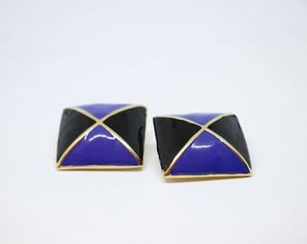 Margaretha Ley for Escada Blue Earrings