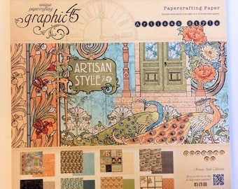 "Graphic 45 ""Artisan Style"" 12"" x 12"" Collection Pad"