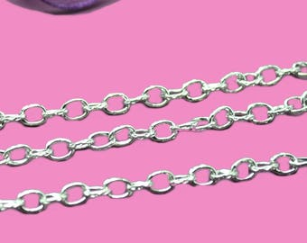5x3.3mm silver link chain